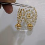 Light Weight Pearl Chandbali from Pulimamidi Jewellers