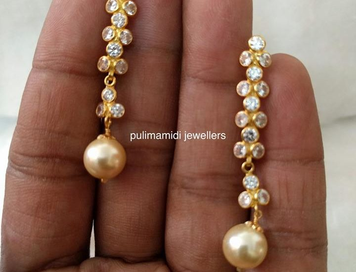 czs south sea pearl earrings
