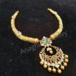 22 carat Gold Kante Haram with Uncuts Pendant from Anagha Jewellery Hyderabad