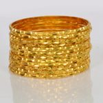 Light Weight Gold Bangles Set – Set of 12 Bangles – Price 25,000