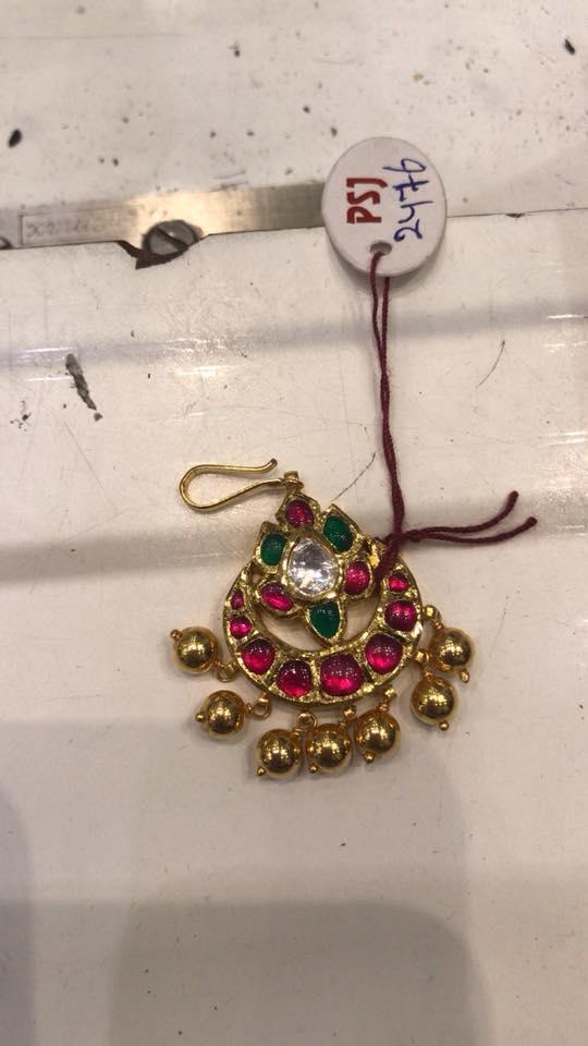 kundan maang tikka from premraj shantilal jain jewellers