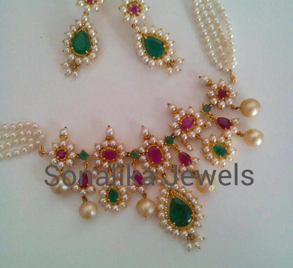 pearl set from sonalika jewels